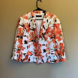 COPY - Kasper floral open blazer